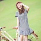 Short-Sleeve Striped Ruffled Dress 1596
