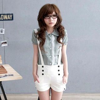 Buy ZOO Buttoned Jumper Shorts 1022689886