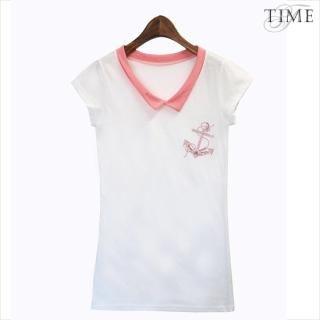 Buy TIME/X9 Contrast-Collar Top 1022816442