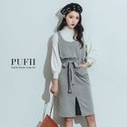 Sleeveless Rib-Knit Dress 1596