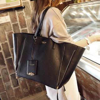 Faux-Leather Tote + Zip Clutch 1036871938