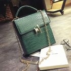 Embossed Faux Leather Boxy Shoulder Bag 1596