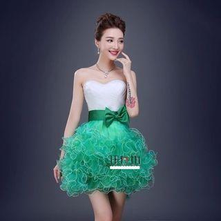 Strapless | Ruffle | Dress | Prom | Mini