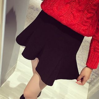 Ruffle Hem Mini Skirt 1053844103