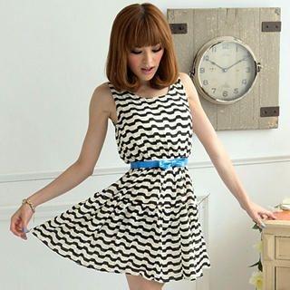 Buy eFashion Sleeveless Patterned Dress 1022977640