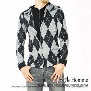 Picture of Style Impact Argyle Hood Jacket 1022187323 (Style Impact, Mens Jackets, Korea)