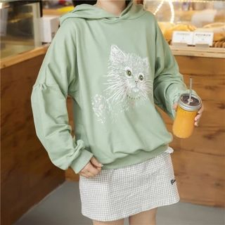 Cart Printed Hooded Pullover 1055166568