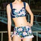 Floral Ruffle Bikini 1596