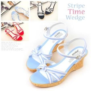 Picture of Miz shoes Buckled Strap Wedge Sandals 1022895977 (Sandals, Miz shoes Shoes, Korea Shoes, Womens Shoes, Womens Sandals)