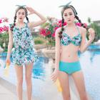 Set: Floral Bikini + Floral Swimdress 1596