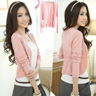 Ruched Open-Front Cardigan 1596