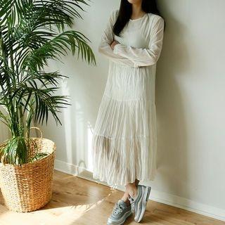 Crinkled Long Chiffon Dress 1065270091