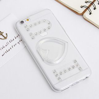 Rhinestone Case with Heart Phone Stand for iPhone 6 / 6 Plus