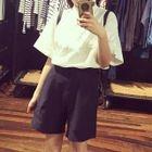 Set : Short-Sleeve Top + Shorts 1596