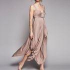 Open Back Drape Sleeveless Dress 1596