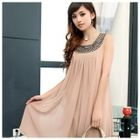 Maternity Embellished Sleeveless Chiffon Dress 1596
