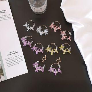Image of Acrylic Flower Mini Hoop Earring