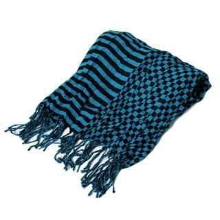 Picture of ESCOBARIA Mixed-Print Scarf Blue / Black - One Size 1012563449 (ESCOBARIA, Mens Hats & Scarves, Japan)