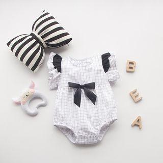 Baby Bow Frill Trim Bodysuit