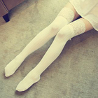 Lace-Trim Thigh-High Socks 1596