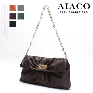 Picture of AIACO Shirred Handbag with Chain Strap 1021534004 (AIACO, Handbags, Korea Bags, Womens Bags, Womens Handbags)