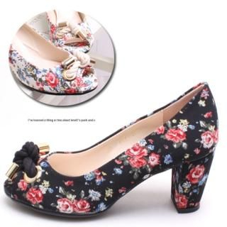Buy Woorisin Floral Print Pumps 1022548699