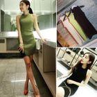 Ribbed Sleeveless Dress 1596