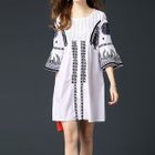 Patterned Bell-Sleeve Dress 1596