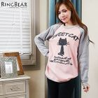 Cat Printed Fleece-Lined Top от YesStyle.com INT