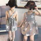 Kids Open Back Sleeveless Dress 1596