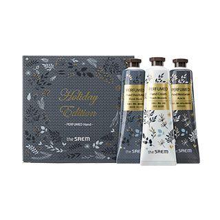 The Saem - Perfumed Hand Set #2 (Holiday Edition): Shea Butter #Floral Musk 30ml + Cream #Peach Blossom 30ml + Moisturizer #Acacia 30ml 30ml x 3pcs 1063902370