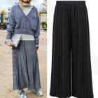 Pleated Wide Leg Knit Pants 1596