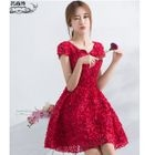 Flower Sleeveless Cocktail Dress / Flower Short-Sleeve Cocktail Dress 1596