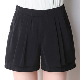Image of Ruffle Wide-Leg Shorts