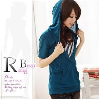 Inset Top Hooded Pullover 1021070892
