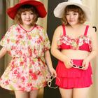 Set: Printed Swim Top + Skirt + Dress 1596