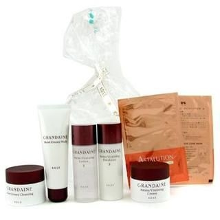 Buy Kose – Grandaine Travel Set: Creamy Wash + Lotion II + Emulsion + Creamy Cleansing + Cream + 2x Eye Masks 7pcs