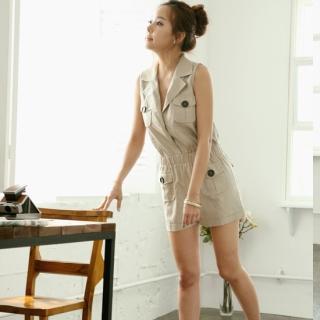 Buy Silver Apple Sleeveless Jumpsuit 1022582104