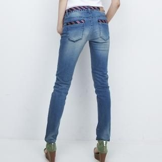 Buy MoDN Striped Trim Washed Skinny Jeans 1023041087