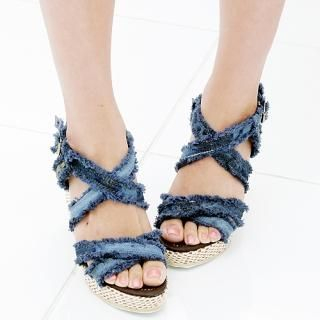 Buy Miss Hong Denim Sandals 1022977461