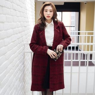 Houndstooth Button Coat 1056035358