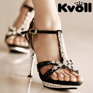 661b9193f226 Buy Kvoll Flower Rhinestone Platform Sandals 1022512422