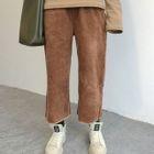 Corduroy Cropped Wide Leg Pants 1596