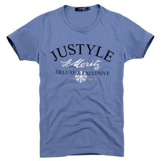 Picture of Justyle Short-Sleeve Rhinestone Printed Tee 1022740603 (Justyle, Mens Tees, China)
