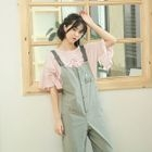 Embroidery Suspender Pants 1596