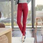 Zip-Front Skinny Pants 1596
