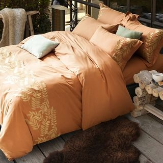 Embroidered Bedding Set: Bed Sheet + Duvet Cover + Pillow Cases 1063601906
