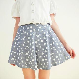 Star-Print Mini Skirt