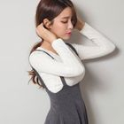 Long-Sleeved Ribbed T-Shirt 1596