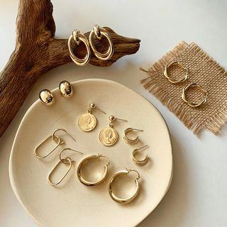 Image of 925 Sterling Silver Dangling Earrings (Various Designs)